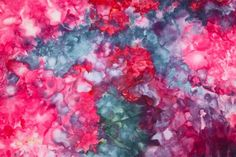 Playing with ice dyeing again - Bloom, Bake & Create