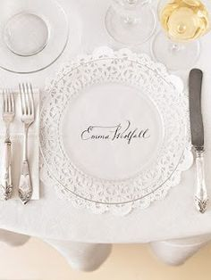 This would be really pretty for a bridal luncheon...you could even use clear plastic instead of glass