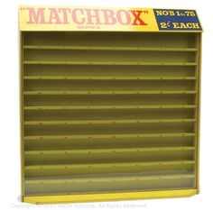 Matchbox display cabinet