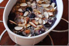 Blueberry Banana Baked Oatmeal via Iowa Girl Eats Blog