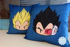 Super Saiyan Vegeta and Vegeta Decorative Pillow Cover Bundle 16 x 16 Anime Pillow Dragon Ball z Pillow Cover Home Decor Gift ideas by MomoGearShop 28.99 USD http://ift.tt/1SKL71Y - Visit now for 3D Dragon Ball Z compression shirts now on sale! #dragonball #dbz #dragonballsuper