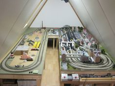 N Scale Train Layout, N Scale Trains, Model Train Layouts, Train Table, Wooden Train, Train Set, Model Trains, Carrera, Planer