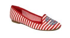 Red, white and blue: Our 4th of July shoe! #tommyhilfiger #flats #macys BUY NOW!