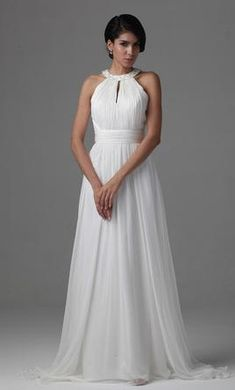 Other Flowy and Light Sheer-Chiffon Gown: buy this dress for a fraction of the salon price on PreOwnedWeddingDresses.com
