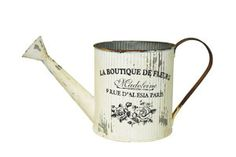 French Watering Can #08068 Rustic chic pieces with an country with an edge. Perfectly weathered and expertly detailed, they'll add just the right touch of clever charm to even the most urbane settings.