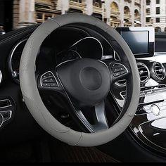 15 Leopard Print Yellow HCMAX Premium Plush Vehicle Steering Wheel Cover Quality Comfy Winter Soft Car Steering Wheel Protector Universal Diameter 38cm