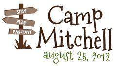 Camp themed Bar Mitzvah logo. http://fabudesigns.com/blog/bar-and-bat-mitzvah-logos/
