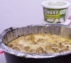 Dean's Dip Tater Tot Campfire Casserole. Tater Tot® Hot Dish is the official Minnesota state casserole, but you don't have to be camping in the Land of 10,000 Lakes to enjoy this one. It's campfire ready, and has the zesty boost of Dean's French Onion Dip. Make this recipe! Best Camping Meals, Camping Desserts, Camping Recipes, Camping Ideas, French Onion Dip, Dutch Oven Recipes, Campfire Food, Fast Dinners, Cast Iron Cooking