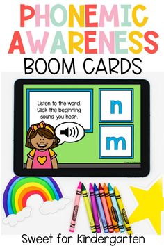 These phonemic awareness activities are digital, engaging, and the perfect way to build foundational skills in your preschool, kindergarteners, & first grade students! These Boom cards are a perfect for distance learning and virtual teaching. Click the pin to check out ALL the digital activities included!