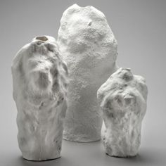 Snow Vases by  Maxim Velčovský | a series of porcelain vases cast from snow