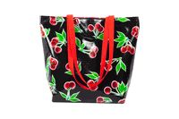 Black Cherry Reversable Oilcloth Totebag. S, M, L. You choose the fabric @ www.oilclothalley.com