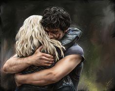 bellarke hug fan art - Google Search