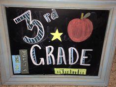 First Day Of School Chalkboard 3rd Grade