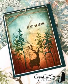 Christmas Past – CopyCatCards Stamped Christmas Cards, Christmas Card Crafts, Christmas Past, Handmade Christmas, Holiday Cards, Christmas Ideas, New Year Cards Handmade, New Year Card Design, Masculine Birthday Cards