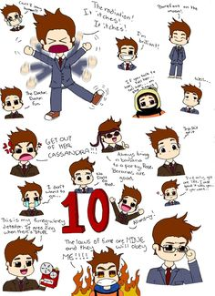 10th Doctor Collage by ~PyneappleJPRGdftba on deviantART