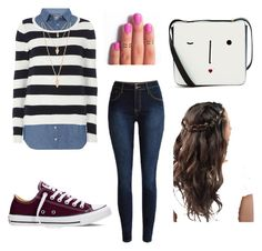 """""""comfy monday outfit"""" by rosanna-s on Polyvore featuring Dorothy Perkins, Converse, Lulu Guinness, Forever 21, women's clothing, women, female, woman, misses and juniors"""