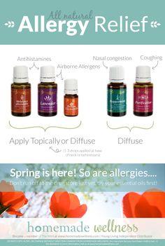 Essential oils that help with seasonal allergies! To Order: www.YLScents.com/TinikaGanttLee #EssentialOils #Health #Wellness