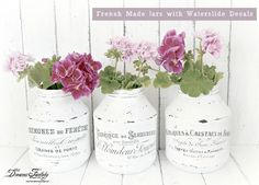 DIY French Made Jars With Waterslide Decals