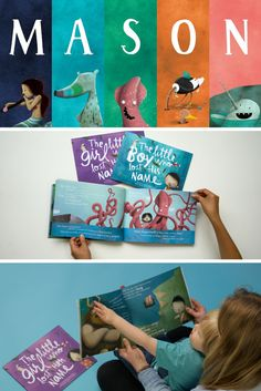 Mason met a Mermaid, an Aardvark, a Squid, an Ostrich and a Narwhal in his magical and marvelous Lost My Name story. Who will your child meet on their personalized adventure? | Lost My Name personalized children's books are the ideal gift for little ones