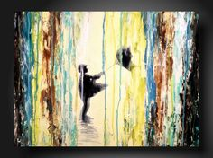 Art original Abstract painting JMJARTSTUDIO Original Painting 18 X 24 Inches-------Upward --------Textured