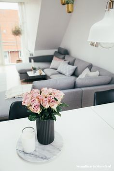 The White Room - Christina & Ulrich's Østerbro Apartment - Interiors - Pink Roses   Scandinavia Standard