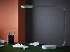 IKEA YPPERLIG LED aluminium table lamp brings a sleek, slim and modern design to desks. It even has a built-in touch dimmer! Ikea Furniture, White Furniture, Furniture Making, Furniture Design, Rustic Furniture, Ikea X Hay, Ikea Ypperlig, Danish Modern Furniture, Minimalist Furniture