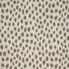 Sunbrella Agra Pebble From The Fusion Collection Features An Elegant Animal Print With White Base Brown Spots This High Performance Upholstery Fabric