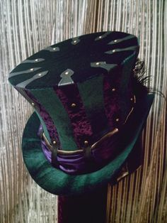 Green and Purple Top Hat