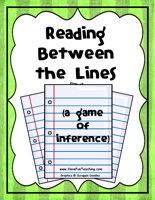 Lots of inferencing activities, worksheets, and games.