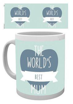 Mother's Day World's Best Mum Mug - Moederdag Mok in pastelkleuren met engelse tekst / quote.