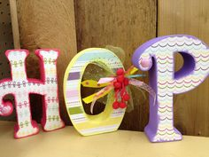 Easter letter setHOP by definebliss on Etsy, $25.00