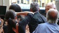 An excited crowd had waited outside the city's town hall for a glimpse of the couple. Clooney was one of a number of celebrities that flocked to the Renaissance city to support Italian opera singer Andrea Bocelli in raising funds for charity   George Clooney shows off his fiancee ahead of wedding  http://www.histreasuresandpresence.com/2014/09/george-clooney-shows-off-his-fiancee.html