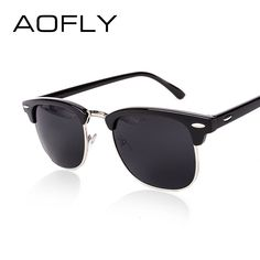 AOFLY CLASSIC Half Metal Sunglasses Men Women Brand Designer Glasses G15  Coating Mirror Sun Glasses Fashion da028a0b0d