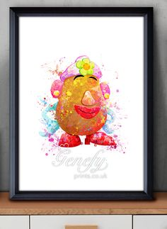 Disney Toy Story Mrs Potato Watercolor Painting Art Poster Print Wall Decor https://www.etsy.com/shop/genefyprints
