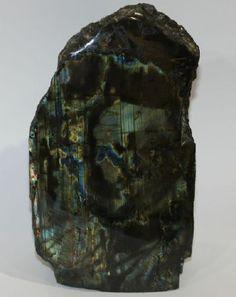 extra-großer SPEKTROLITH (LABRADORIT-Varietät) - Feldspat - Riesen - Handschmeichler, RARITÄT ! ca. 123 x 71 x 40 mm groß + ca. 593 Gramm schwer !