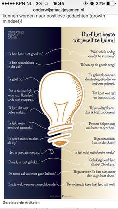 Poster in de klas. Voor de juiste mindset bij kinderen!