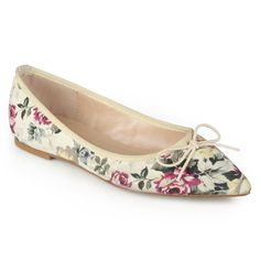 Journee Collection Women's 'Lena' Pointed Toe Bow Ballet Flats (- )