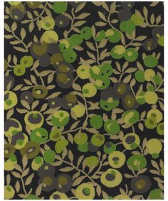 WILTSHIRE, P, LIBERTY FABRIC    This Leaf and berry pattern was designed for Liberty in 1933. Like Betsy, it was created by the designer with the initials DS. It was redesigned by Tana in 1968. Wiltshire has been on Classic Tana since 1979.  Product ID: 611