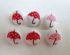 Fabric Covered Buttons  seasonal buttons by yarnsupplies on Etsy, $5.00