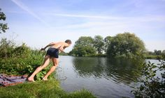 Taking the plunge … the UK's wild swimming spots are worth making a splash over. Click here for a Google...
