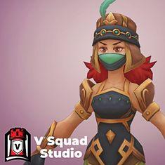 Arabic girl, V Squad Studio on ArtStation at https://www.artstation.com/artwork/635zx