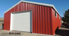 Garage Building Kits-Metal Building Outlet offers top quality steel building garages for commercial buildings, agricultural storage, equipment repair, or a personal hobby. Call Metal Building Outlet for information Prefab Buildings, Backyard Buildings, Shop Buildings, Steel Buildings, Metal Carports, Metal Garages, Metal Building Kits, Warehouse Office, Barn Kits