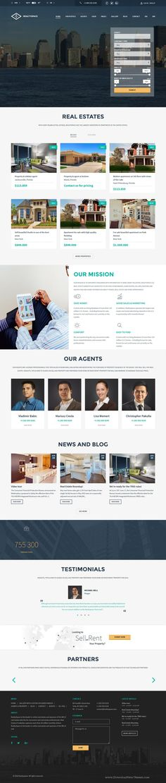 Realtyspace is tremendous WordPress #Template for real estate, #property or #rental websites. Download Now!