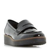 DUNE LADIES GRAPHIC - Flatform Penny Loafer Shoe - black  | Dune Shoes Online