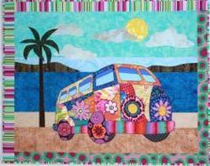 "Pattern instructions and drawings to make a 40"" x 32"" quilt of Gotta Love My Bus."