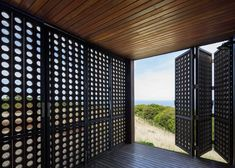Jackson Clements Burrows' cabin has perforated shutters