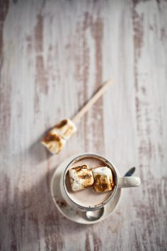 hot chocolate with toasted marshmallows