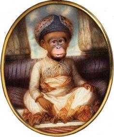 Singerie ~ Monkey Themes Monkey Style, Monkey See Monkey Do, Ape Monkey, Decoration, Art Decor, Curious Creatures, Rococo Style, Monkey Business, Cute Illustration