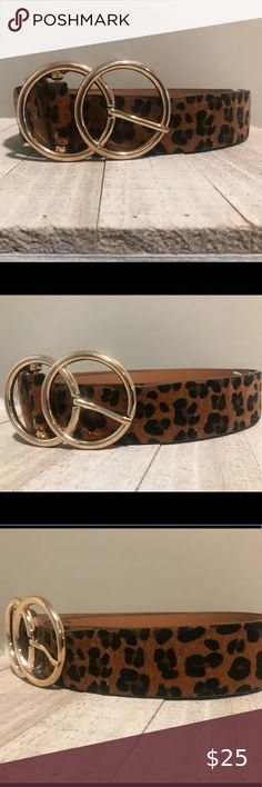"""Mens Animal Print Snakeskin Wide Brown Faux Leather Belt 33/"""" To 36/"""" Inch"""