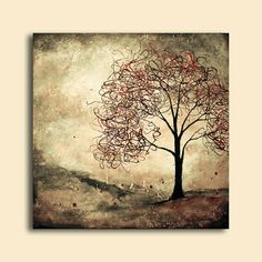 Abstract Surreal Tree Painting